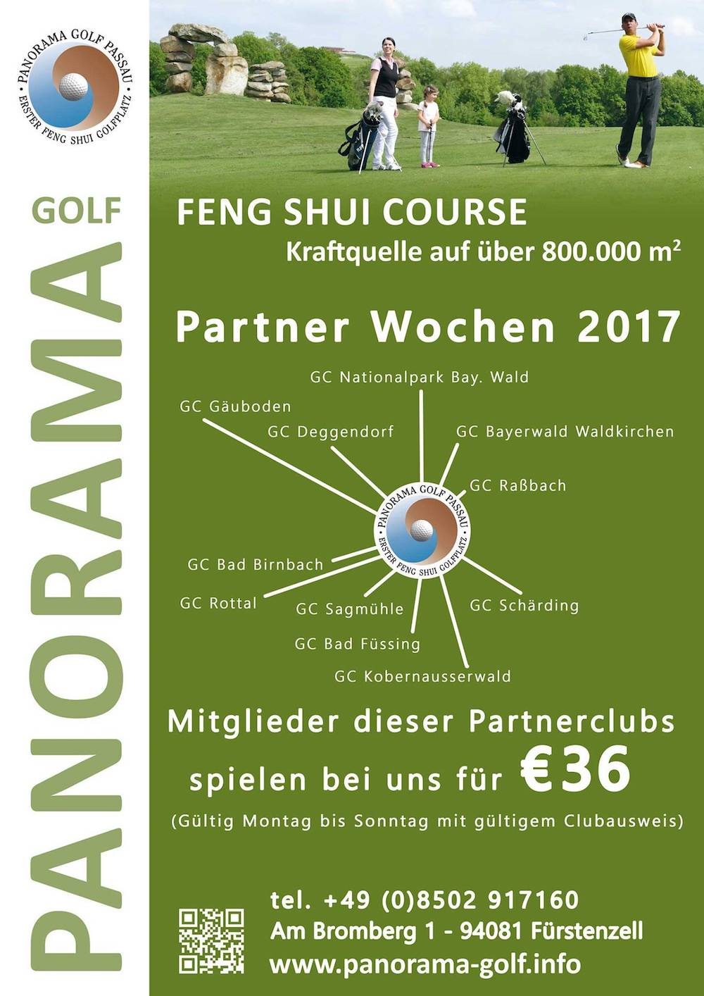 Angebot für Mitglieder der Nachbarclubs, Panorama-Golf