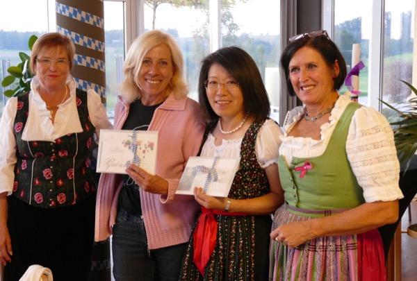 Pink-Ribbon-Turnier der Ladies bei Panorama-Golf. Siegerinnen Netto A.